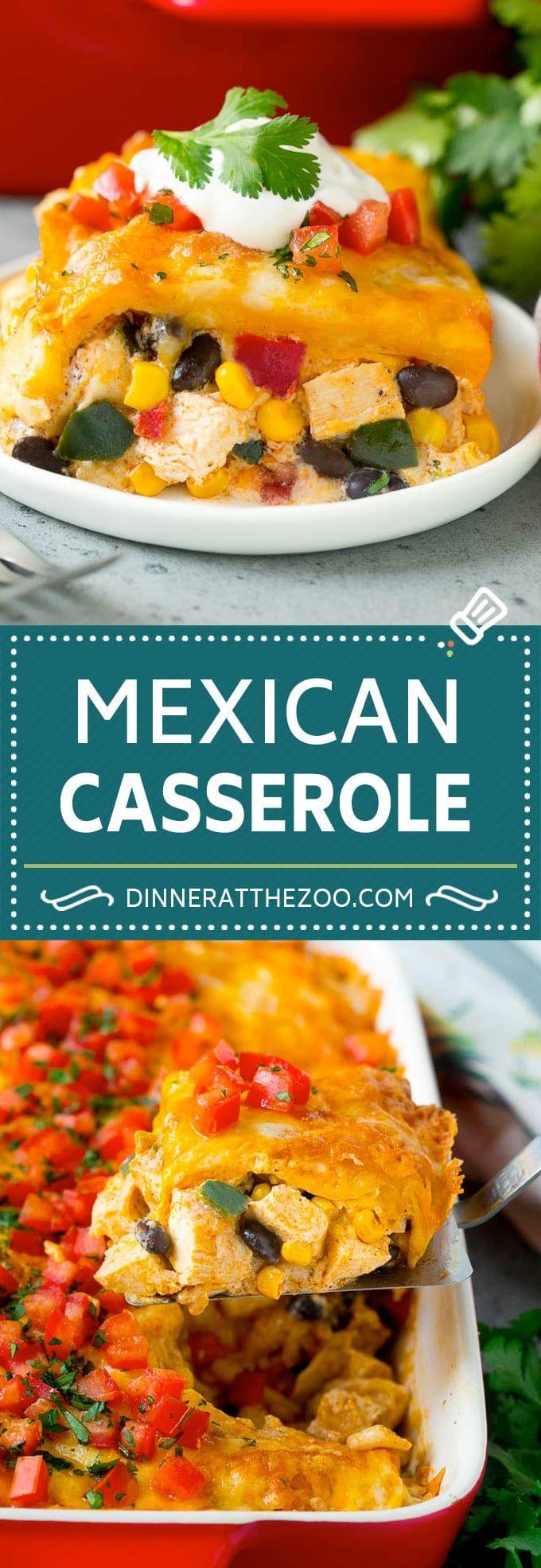 Mexican Casserole Recipe | Mexican Chicken Casserole | Tortilla Casserole