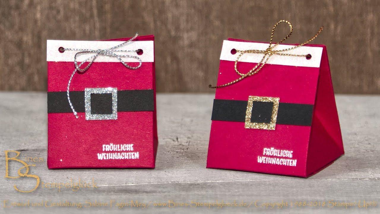 Weihnachtliche Dreiecksbox - kleines Mitbringsel bzw. Tischdekoration #weihnachtlichetischdekoration