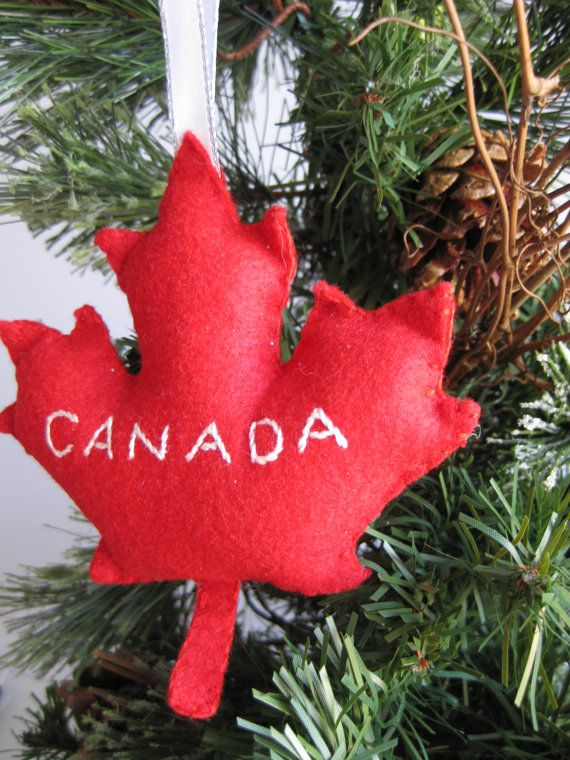 Canada Maple Leaf Ornament 12 10cdn Ships From Toronto On Etsy Com Leaf Ornament Christmas Ornaments Canada Christmas