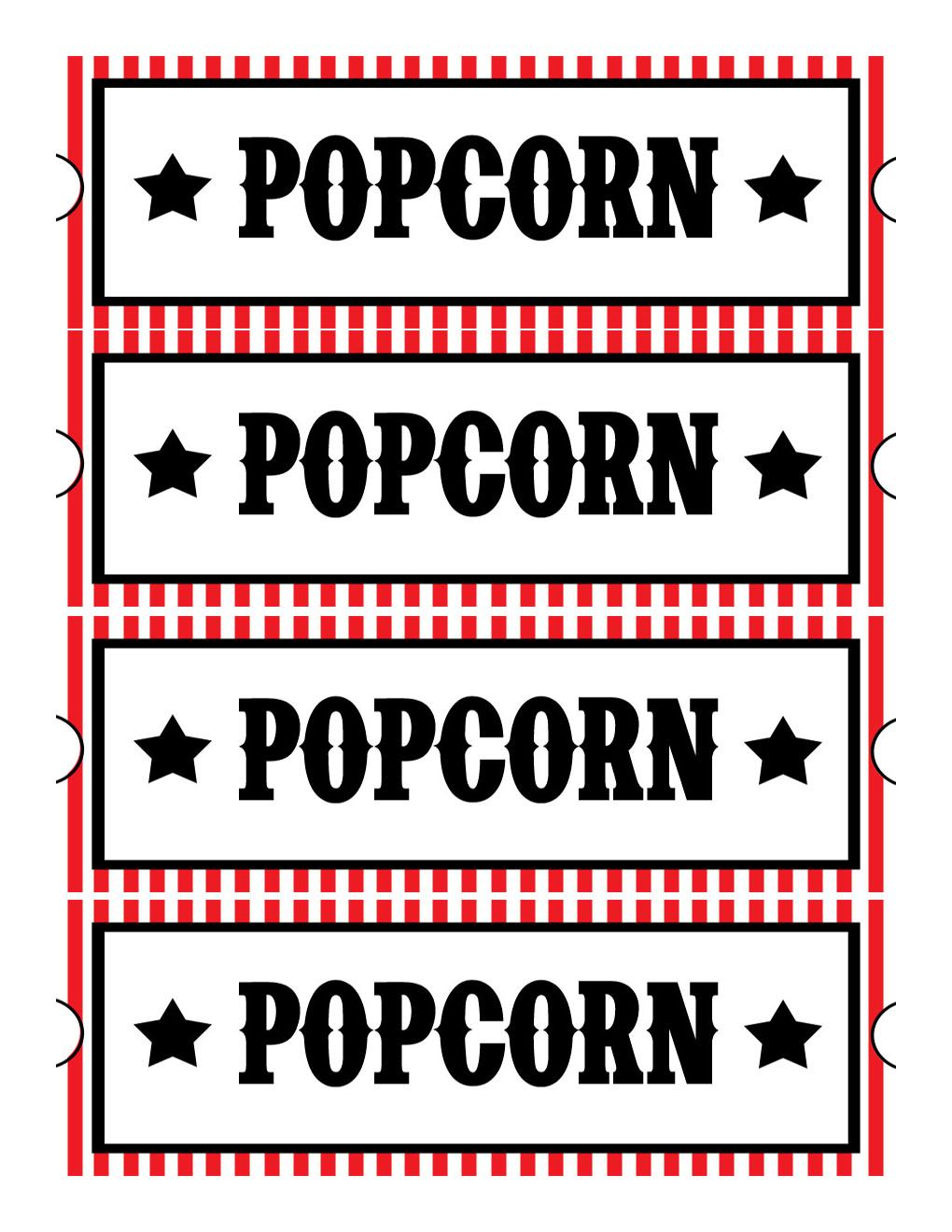Sweet Daisy Designs: Free Printables: Home Movie Theatre Night-Also ...