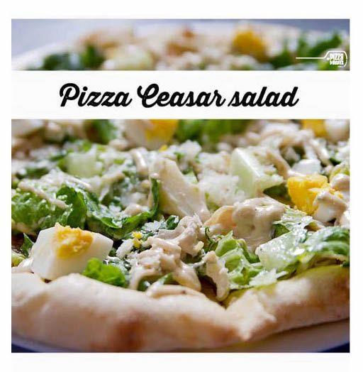 Pizza Ceasar Salad | lettuce, egg, Ceasar dressing, roasted chicken #depizzabakkers