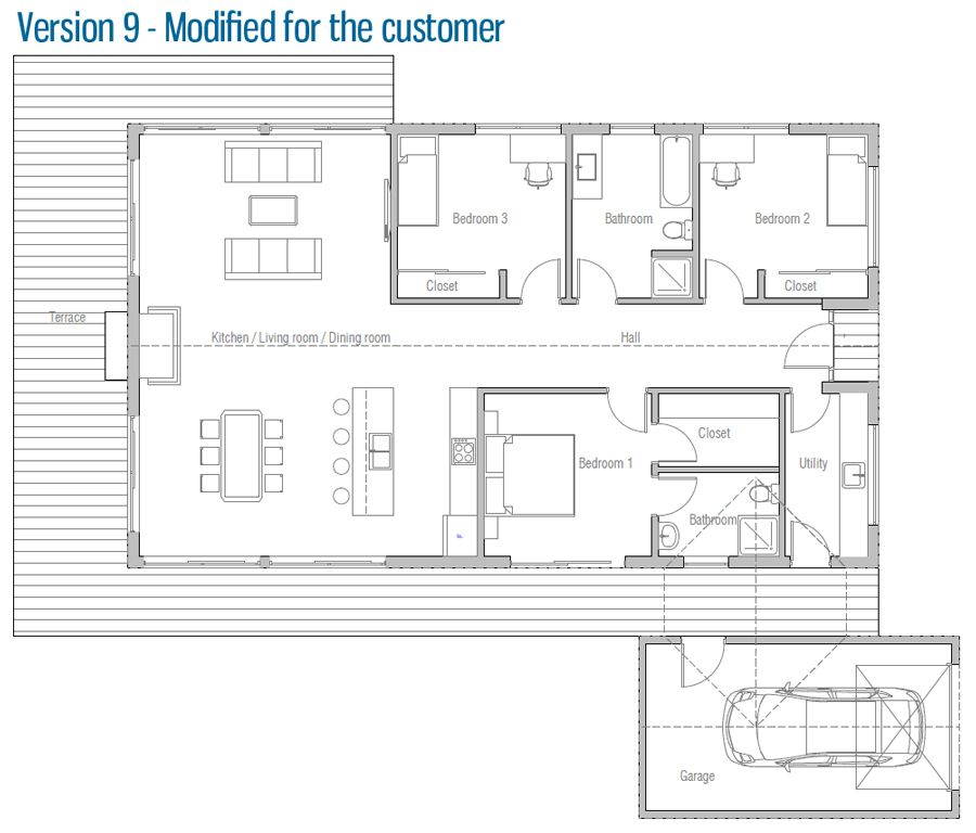 Maison Maisons personnalisées Pinterest Plans maison, Plan - plan de maison rectangulaire plain pied