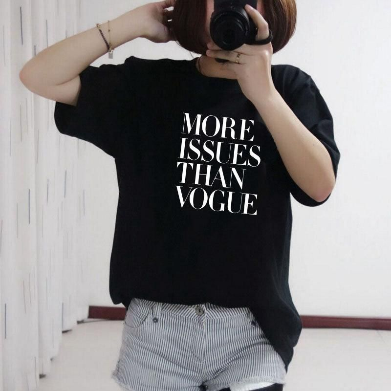 More issues than vogue printed womens t shirt 2000