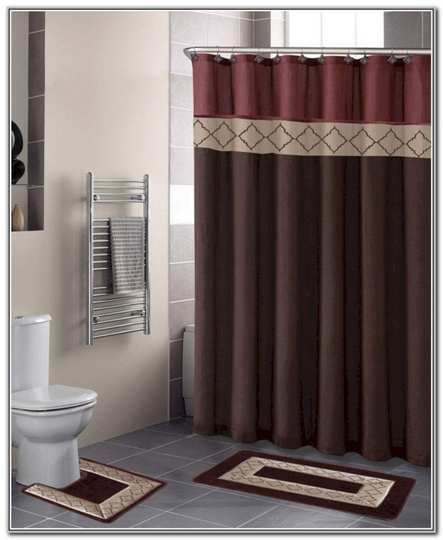 Bathroom Curtain And Rug Sets In 2020 Contemporary Bathroom