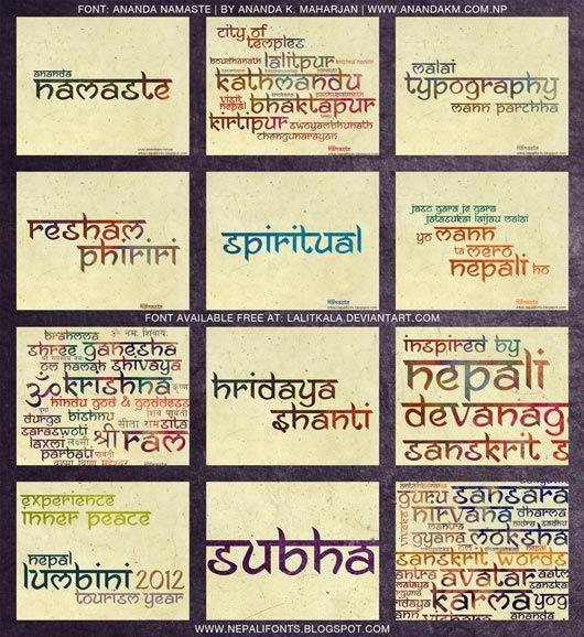 Ananda Namaste Free Font | fonts | Hindi font, Sanskrit font