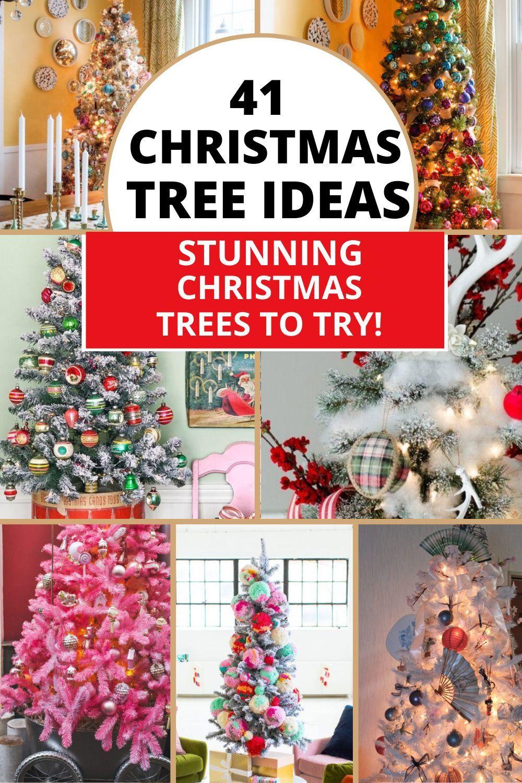 41 Mesmerizing Christmas Tree Ideas To Try This Season Amazing Christmas Trees Christmas Decor Diy Flocked Christmas Trees