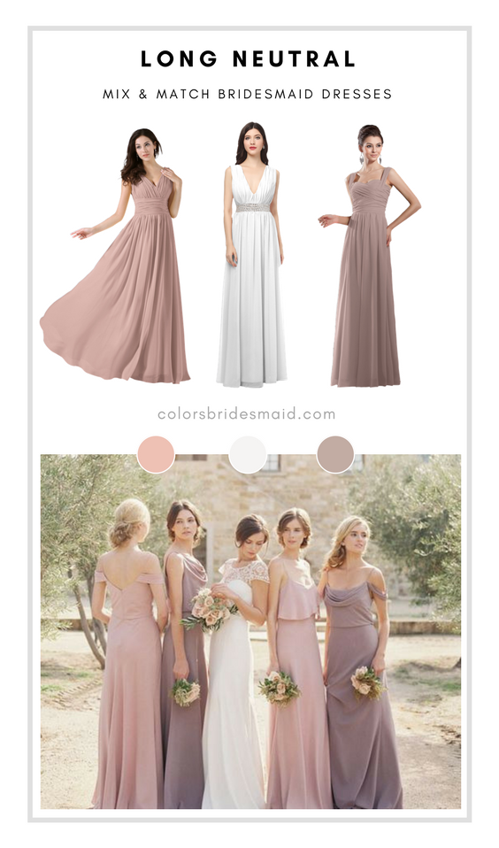 Best Neutral Bridesmaid Dresses In Dusty Rose White And Fawn Neutral Bridesmaid Dresses Long Neutral Bridesmaid Dresses Rose Bridesmaid Dresses