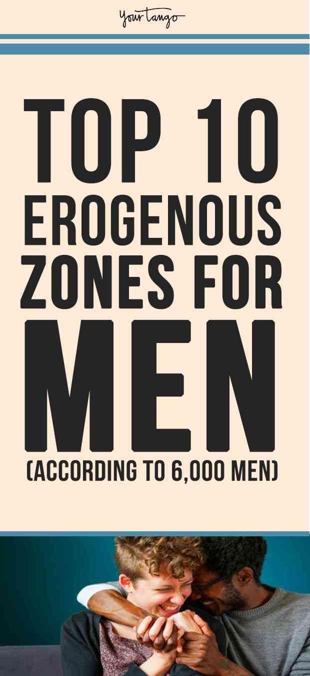 Where are men most sensitive