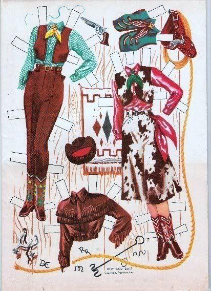Roy Rogers Amp Dale Evans Paper Dolls Paper Dolls