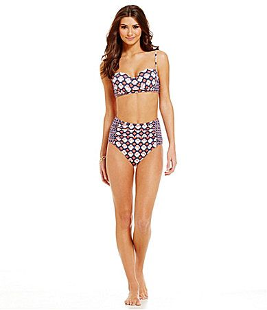 a5ca4e147e6 Cremieux FlamingoPrint Midkini Top and HighWaist Bottom  Dillards ...