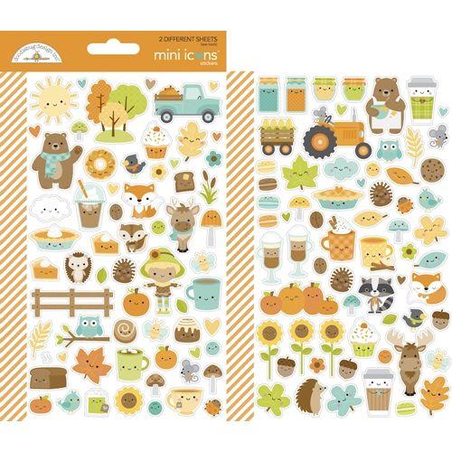 Doodlebug PUMPKIN SPICE MINI ICONS Stickers 6969
