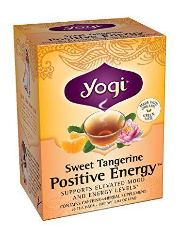 Yogi Sweet Tangerine Positive Energy, 1.02 Ounce (Pack of 6) - http://teacoffeestore.com/yogi-sweet-tangerine-positive-energy-1-02-ounce-pack-of-6/
