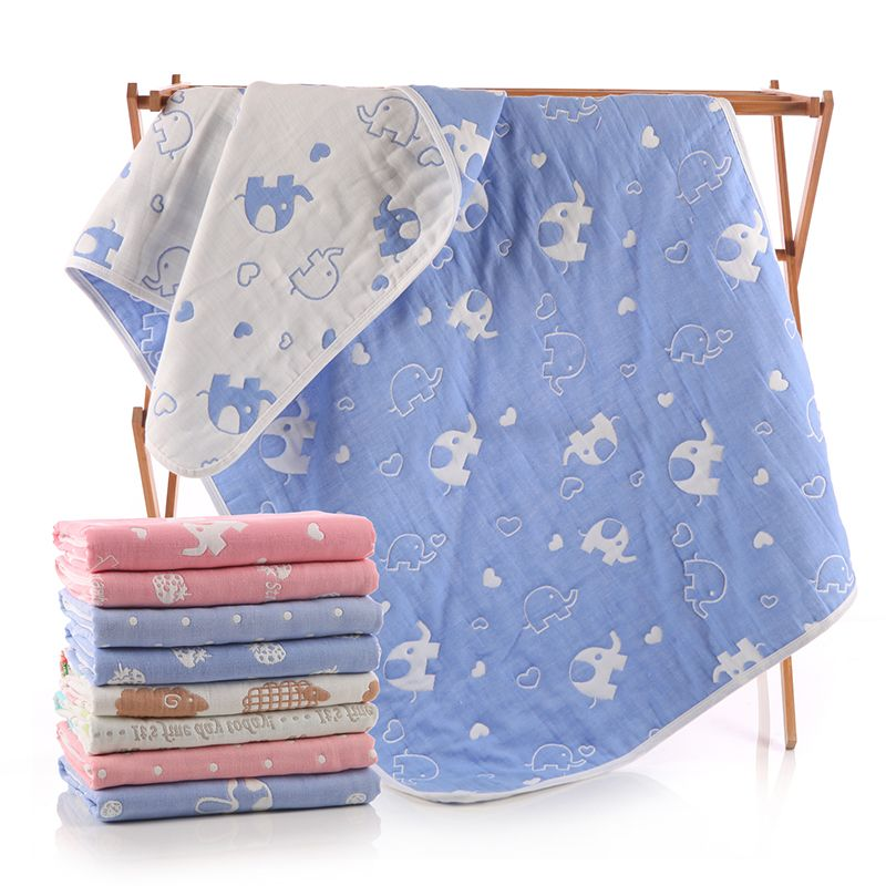 0ef4379c178c 8 layers Organic Cotton Baby Blanket Newborn Soft baby quilt for ...