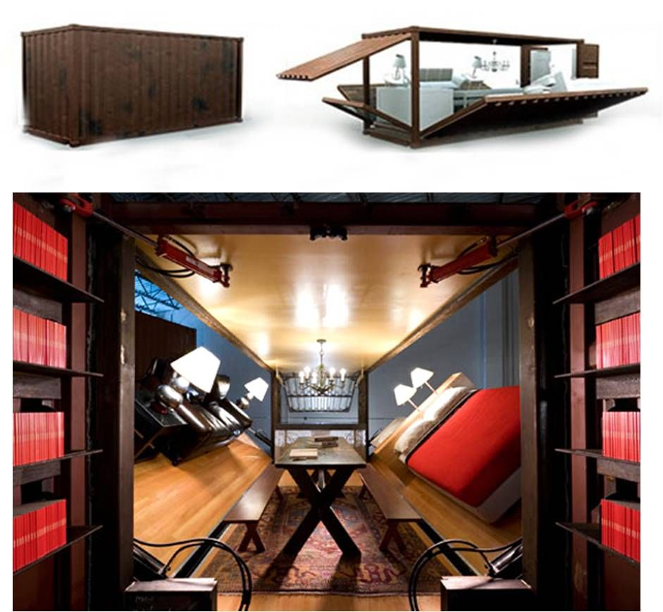 Big Living In Container Spaces: Pushbutton House Created By Adam Kalkin. Kalkin Transforms