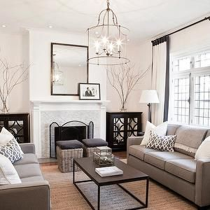 Lux Decor Living Rooms Monochromatic Living Room White Walls