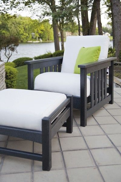 Beautiful 2 Piece Mission Style Deep Seating Set by POLYWOOD! Free Shipping. - Beautiful 2 Piece Mission Style Deep Seating Set By POLYWOOD! Free