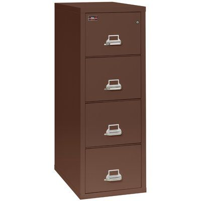 Fireking Fireproof 4 Drawer Vertical File Cabinet Color Brown