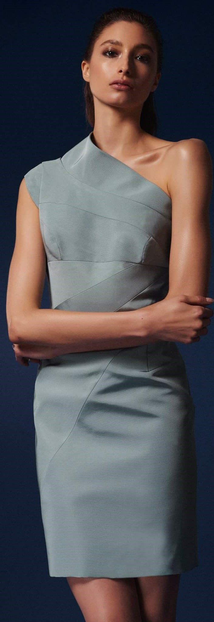 Rubin Singer pre fall 2016 gray dress women fashion outfit clothing ...