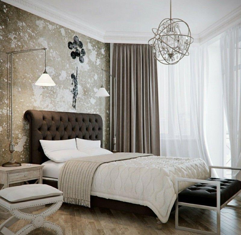 AuBergewohnlich Kreative Wandgestaltung Im Schlafzimmer   Trendige Farben U0026 Dekoideen