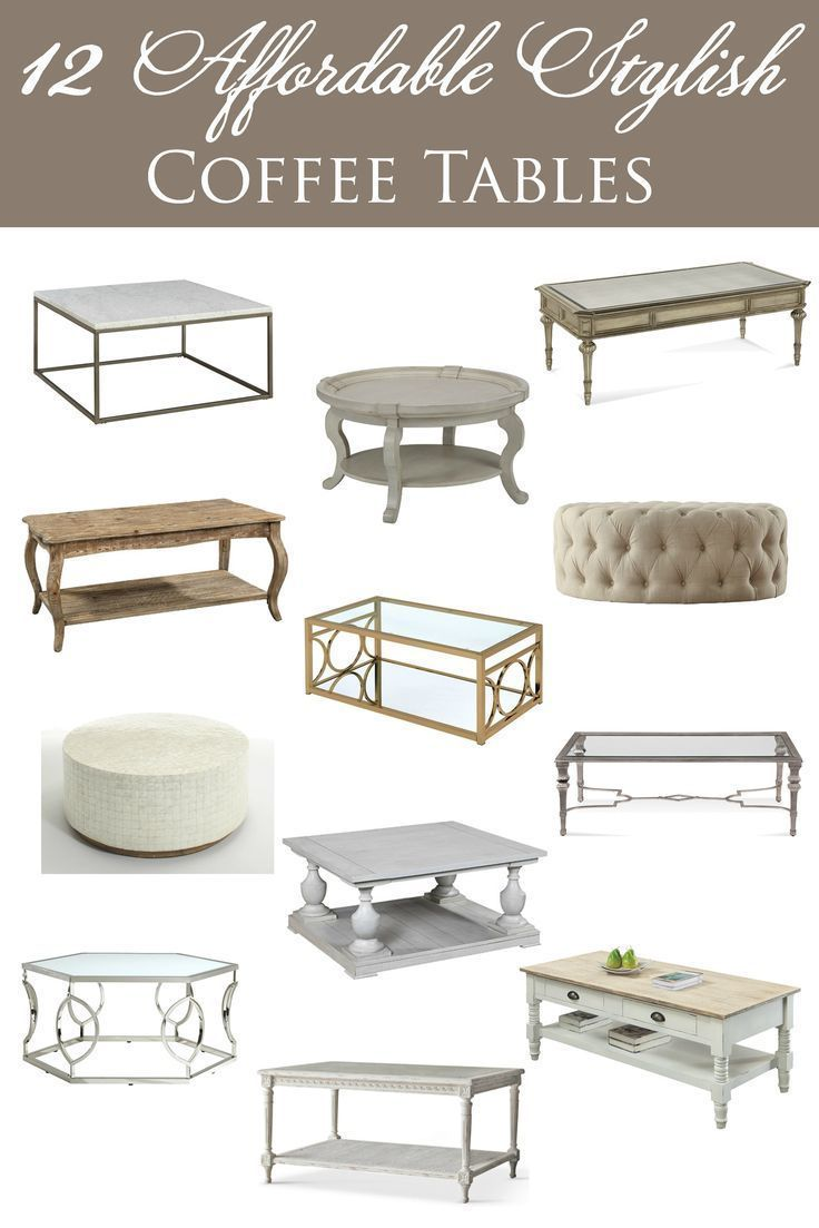 affordable stylish coffee tables