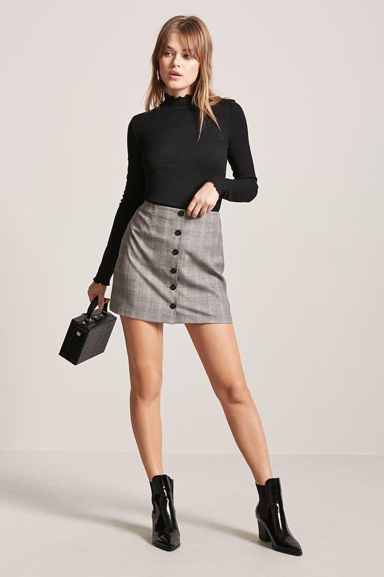 0367a97b52c8 Glen Plaid Mini Skirt | Fashion in 2019 | Mini skirts, Plaid mini ...