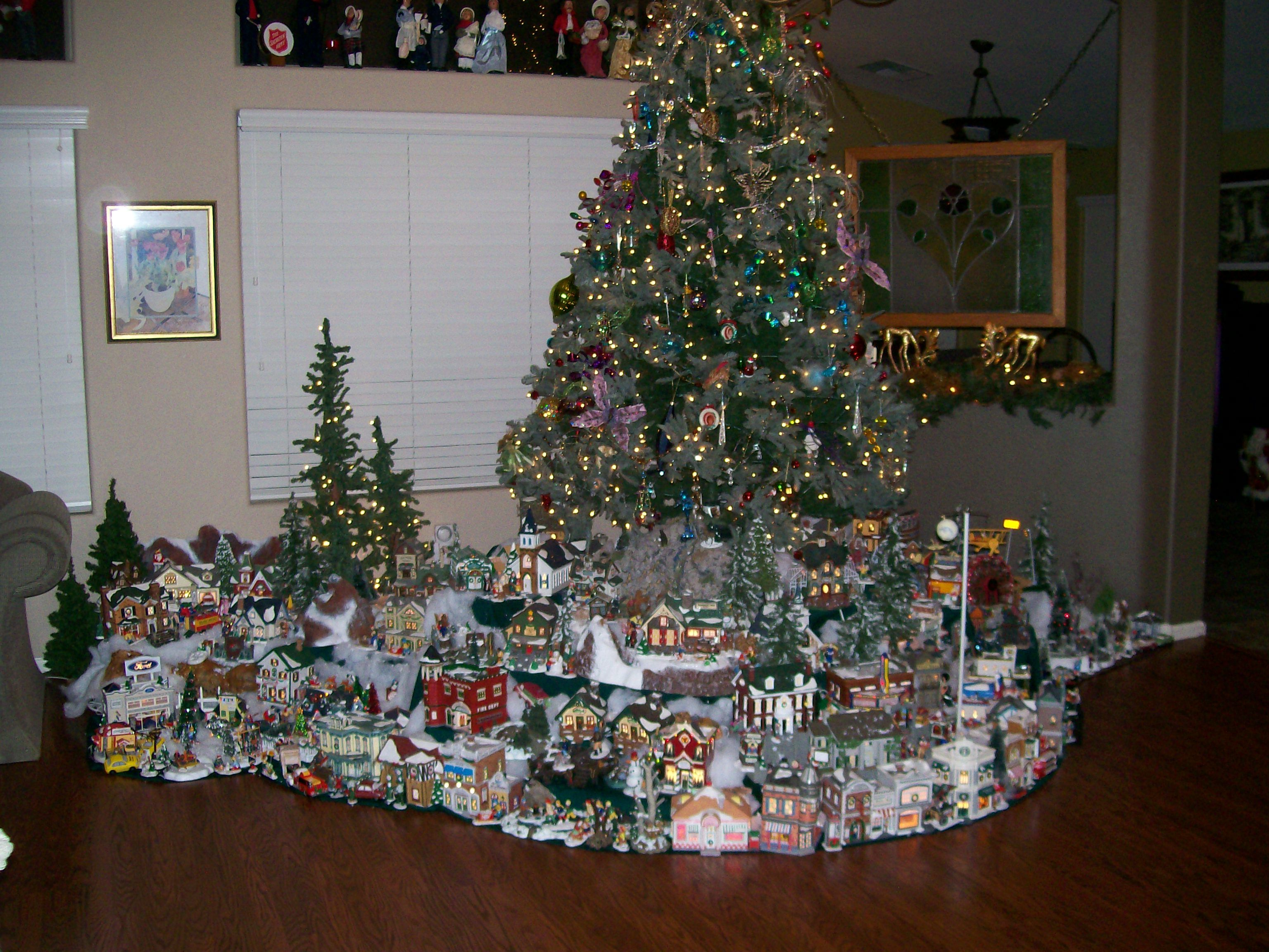 Your best and brightest Christmas trees on display   Christmas villages, Christmas village ...