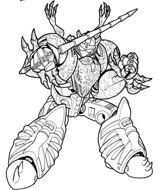 Beast Wars Grimlock Prelim By Kingoji On Deviantart Coloring