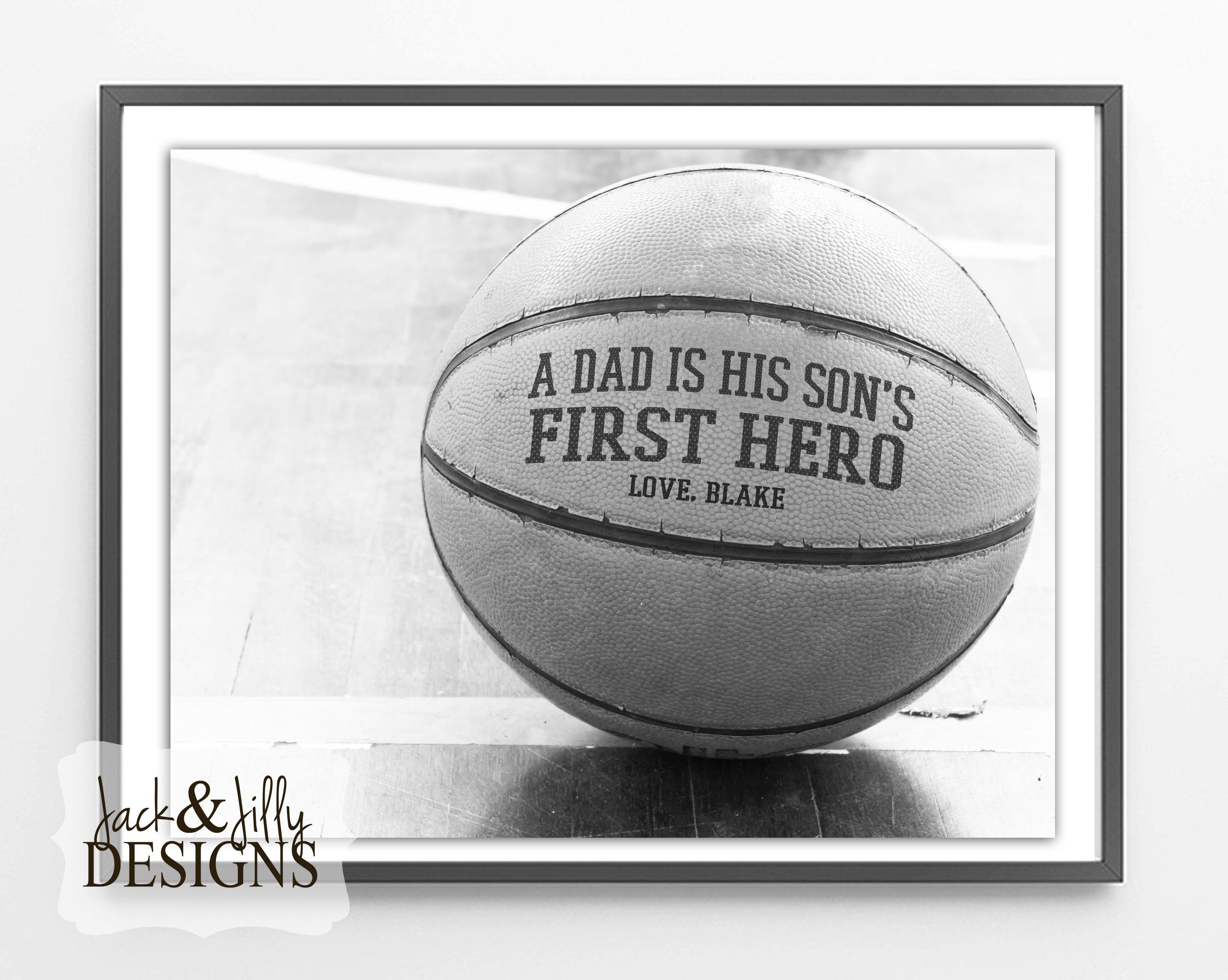 Fathers Day Gift Idea  Personalized Basketball  From Jack