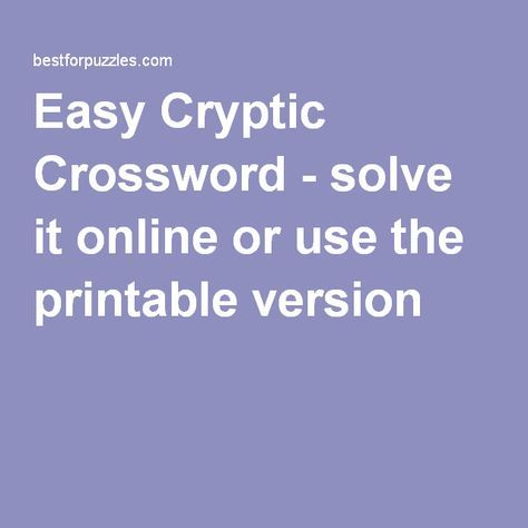 It is a picture of Printable Cryptic Crosswords inside june