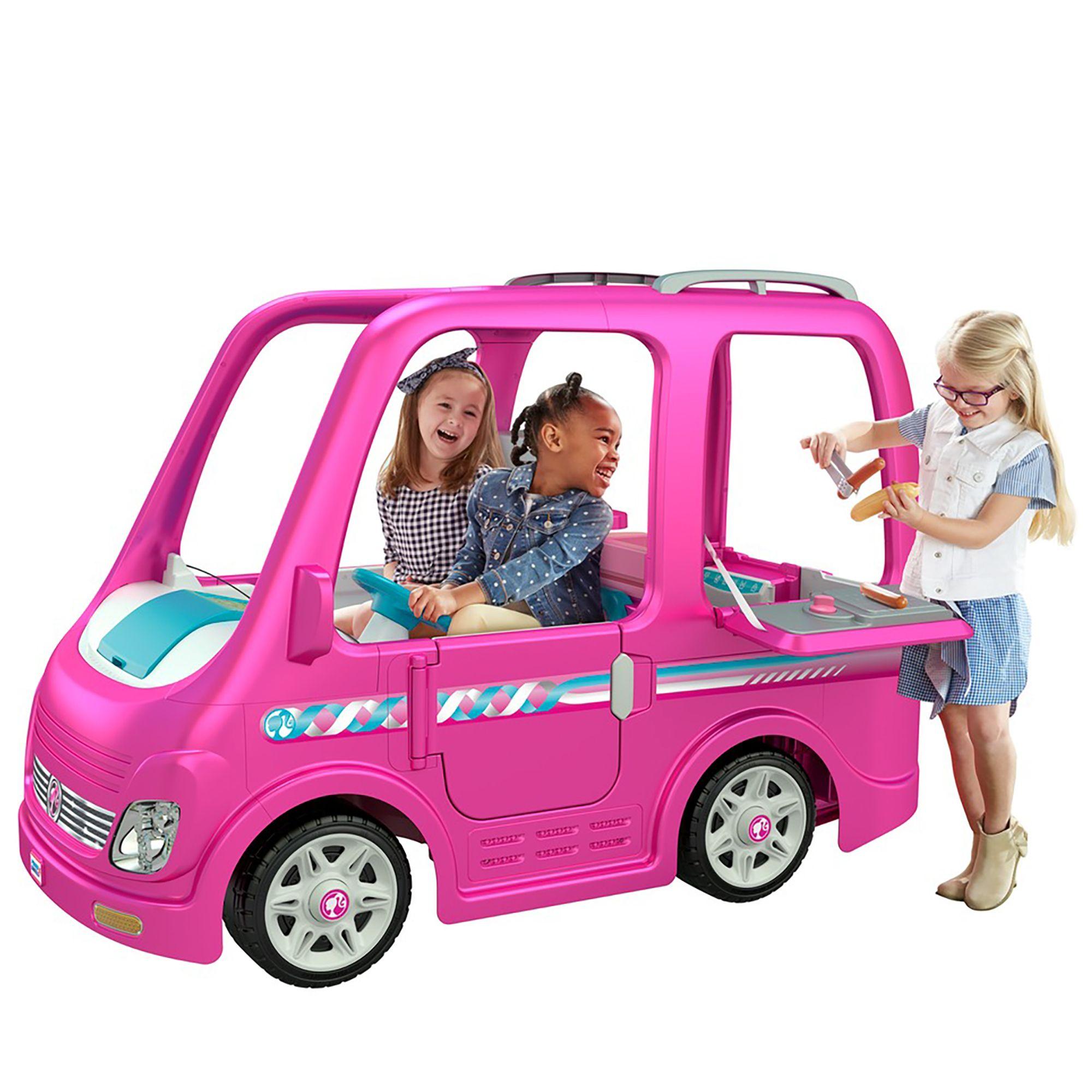 Power Wheels Barbie Dream Camper Battery Powered Ride On Vehicle Walmart Com In 2020 Barbie Car Barbie Camper Power Wheels