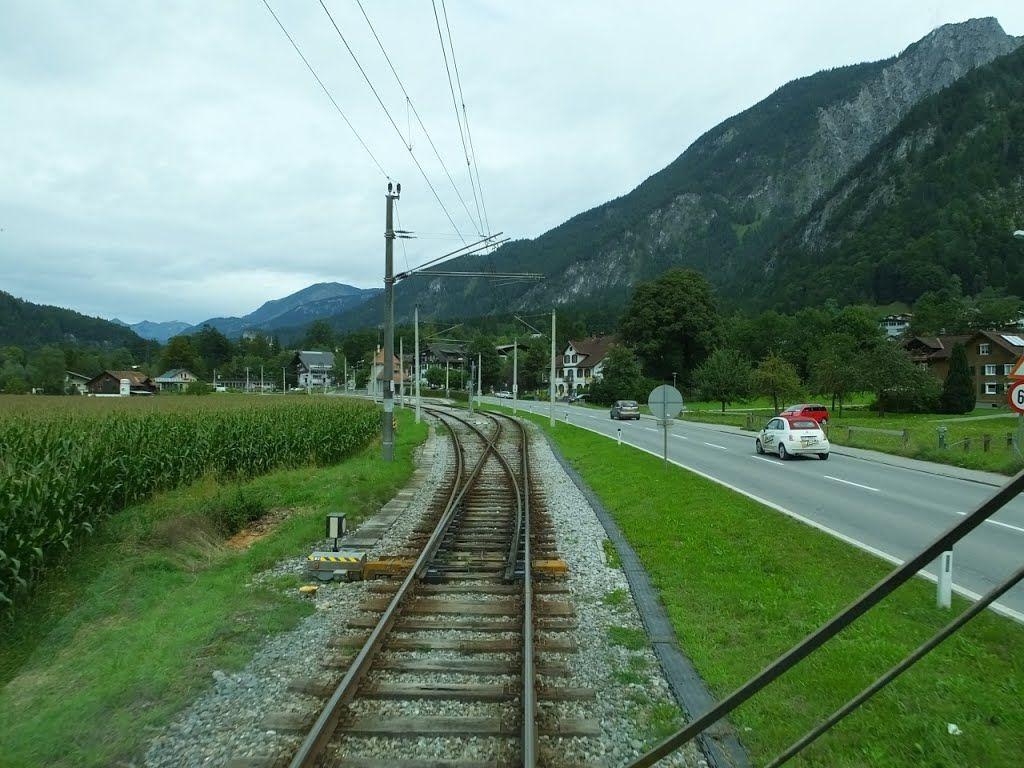 Entering St. Anton im Monafon Station.Austria.