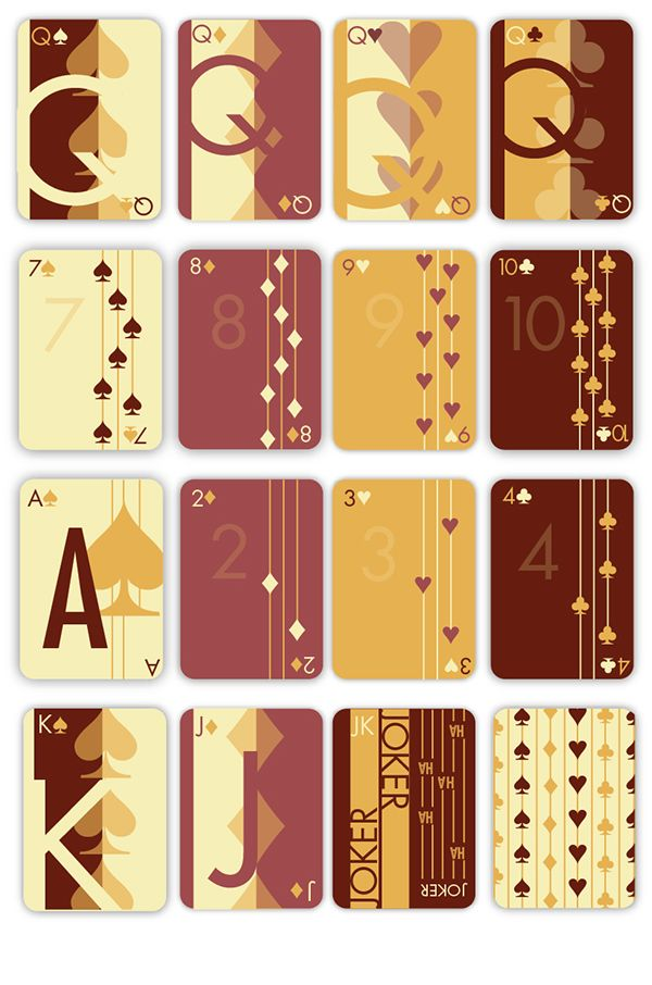 Modern Art Playing Cards Clean Sophisticated Design Use Of