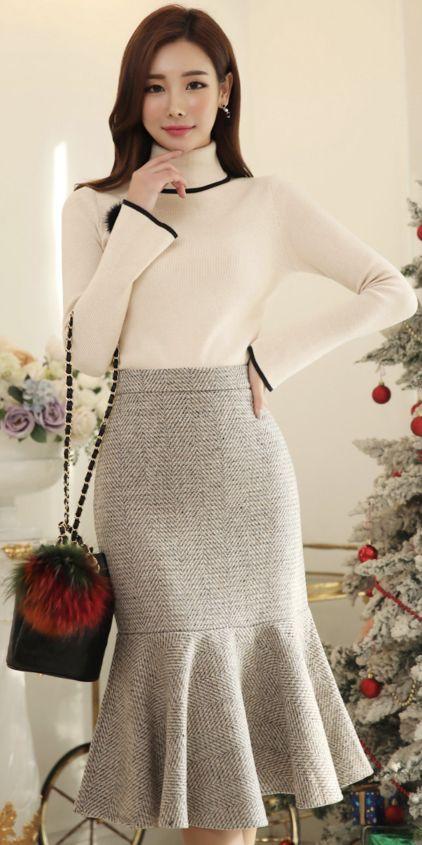 Mermaid Hem Long Skirt | Pinterest | Rock, Rock nähen und Selbst genäht