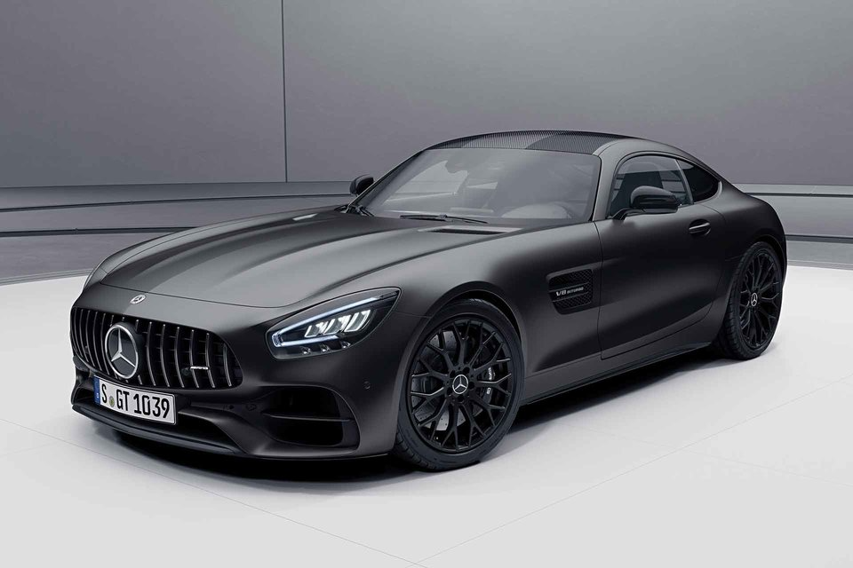 2021 Mercedes Amg Gt Stealth Edition Coupe Roadster In 2020 Mercedes Amg Amg Mercedes
