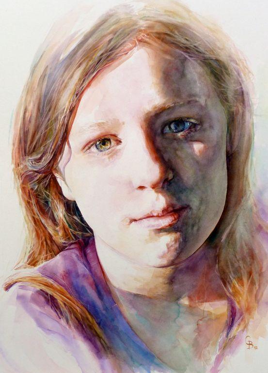 Saatchi Online Artist Catherine Beale Watercolor 2013 Painting Katie Watercolor Portraits Face Drawing Portrait Illustration