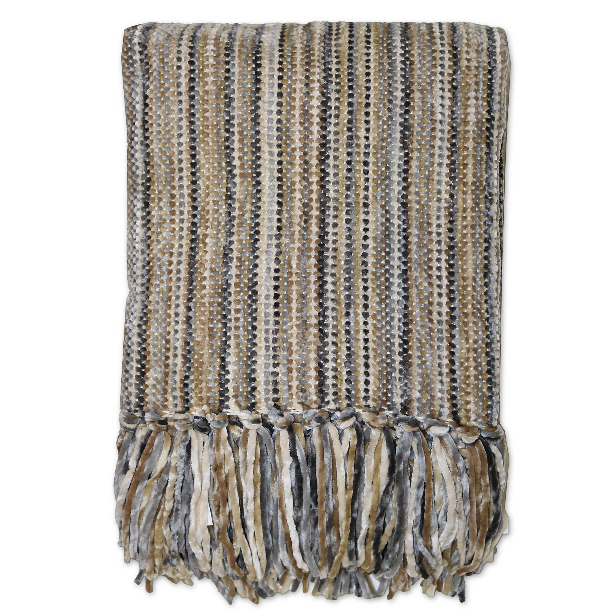 Streamers 50 Inch X 60 Inch Throw Blanket In Stripe Living Room In