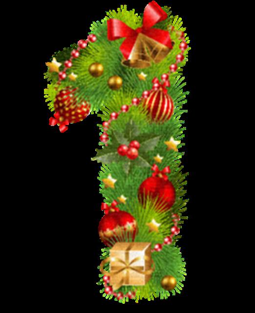 Kolekciya Cifri Cvetni Numbers Png Imprimibles Escolares Manualidades Fondos Navidad