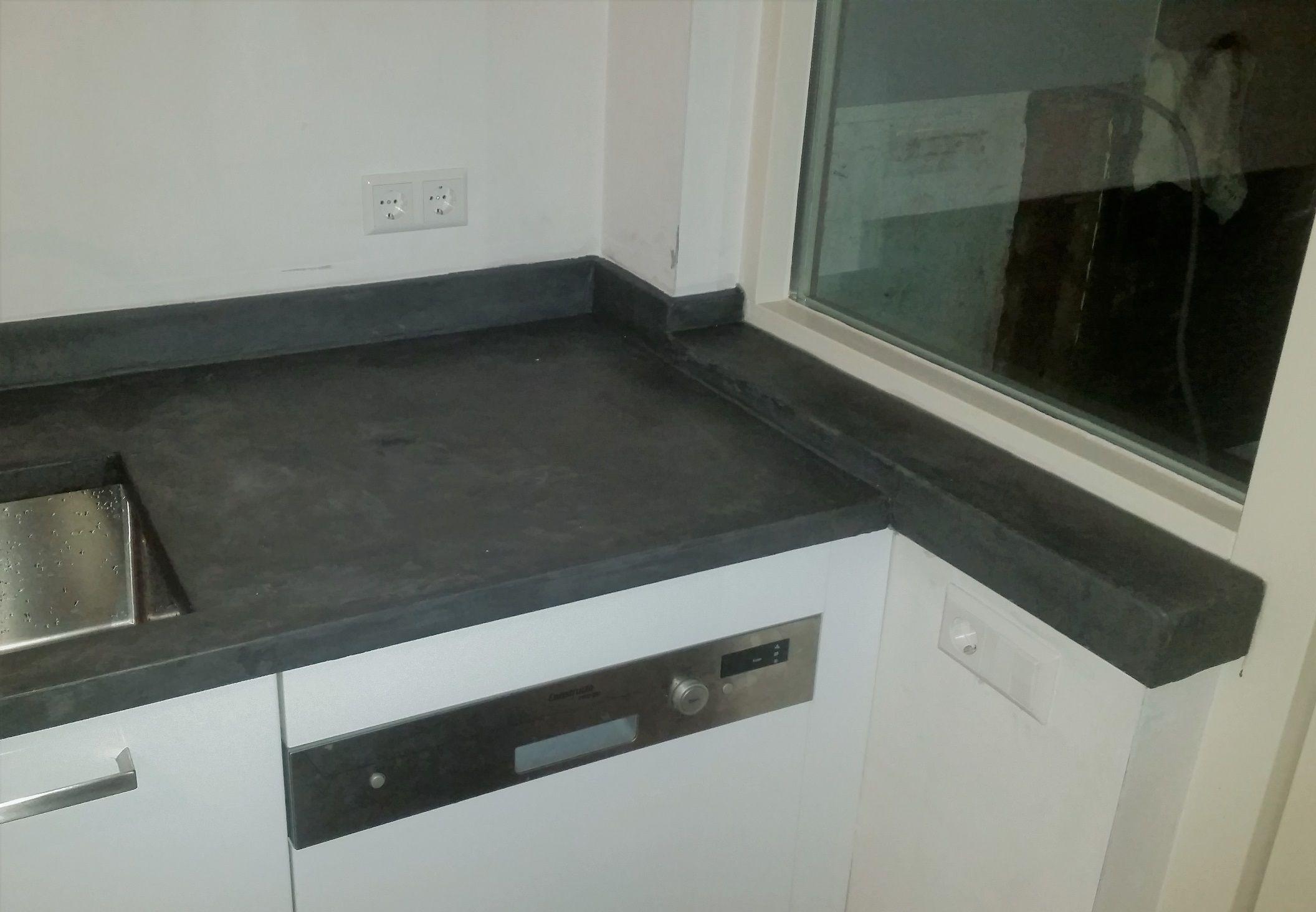 aanrechtblad beton cire beal mortex ontwerp burki design