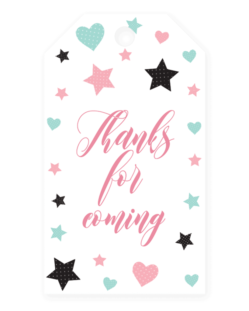 Pink Girl Baby Shower Favor Tag Template Tag Templates Template