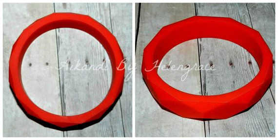 Red Faceted Sensory Bangle