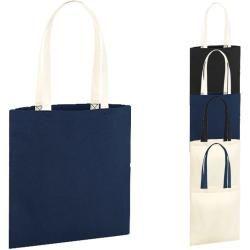 Wm801c Westford Mill EarthAware™ Organic Bag for Life - Contrast Handles Westford Mill