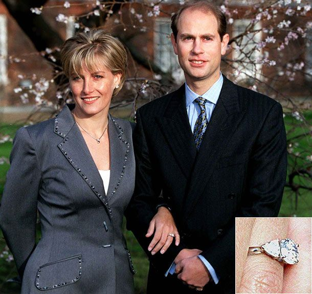 The engagement rings adorning the hands of the British ...