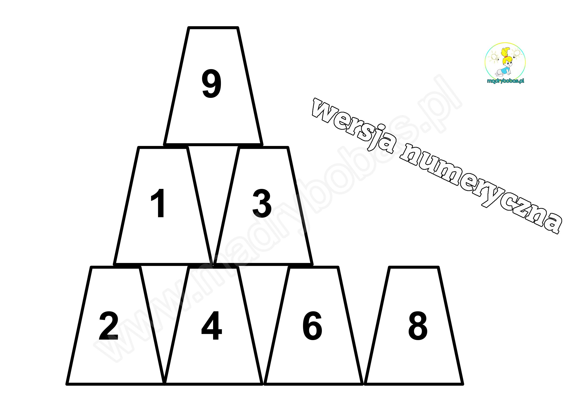 Kubeczkowa Piramida Pomoce Logopedyczne Ukladanki Lewopokulowe Fall Math Math