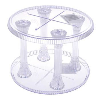 17 Wilton Crystal Look Round Separator Plate 3 Wedding Cakes