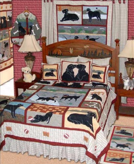 Black Lab Bedding Pillows Quilts Just Lovely Labrador Retrievers Home Decor Products