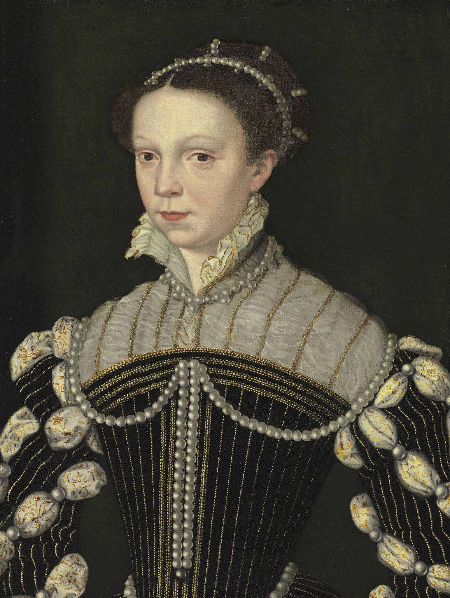 Portrait de Isabelle de Valois-Angoulême princesse de France, reine d'Espagne, 1559 école de Clouet
