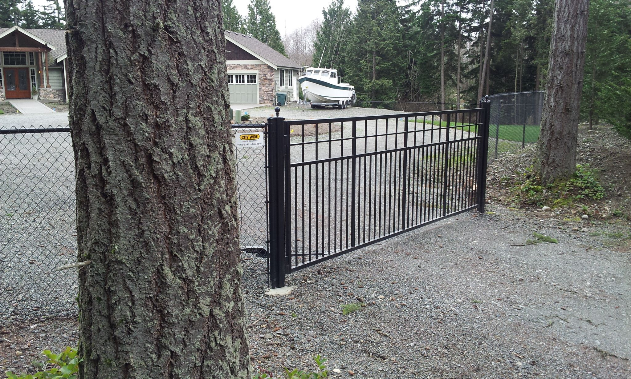Ornamental wire fencing - Ornamental Iron Craftsman Style Iron Gate