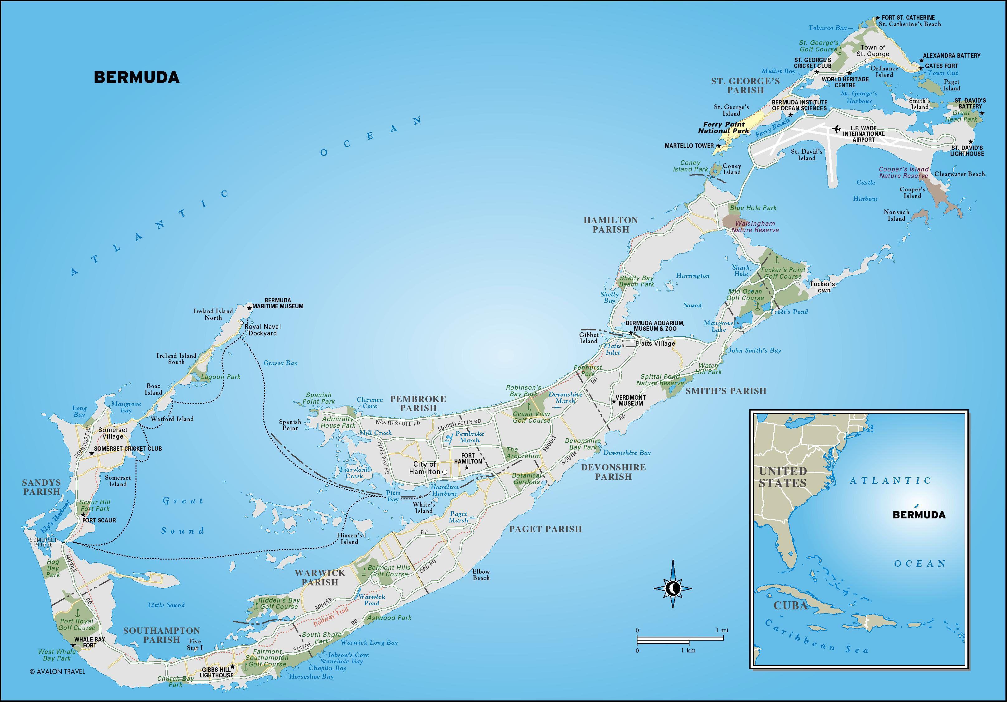 Bermuda  Sea Chart Lempriere Toms Battlemapsus Bermuda Map - Map us beaches
