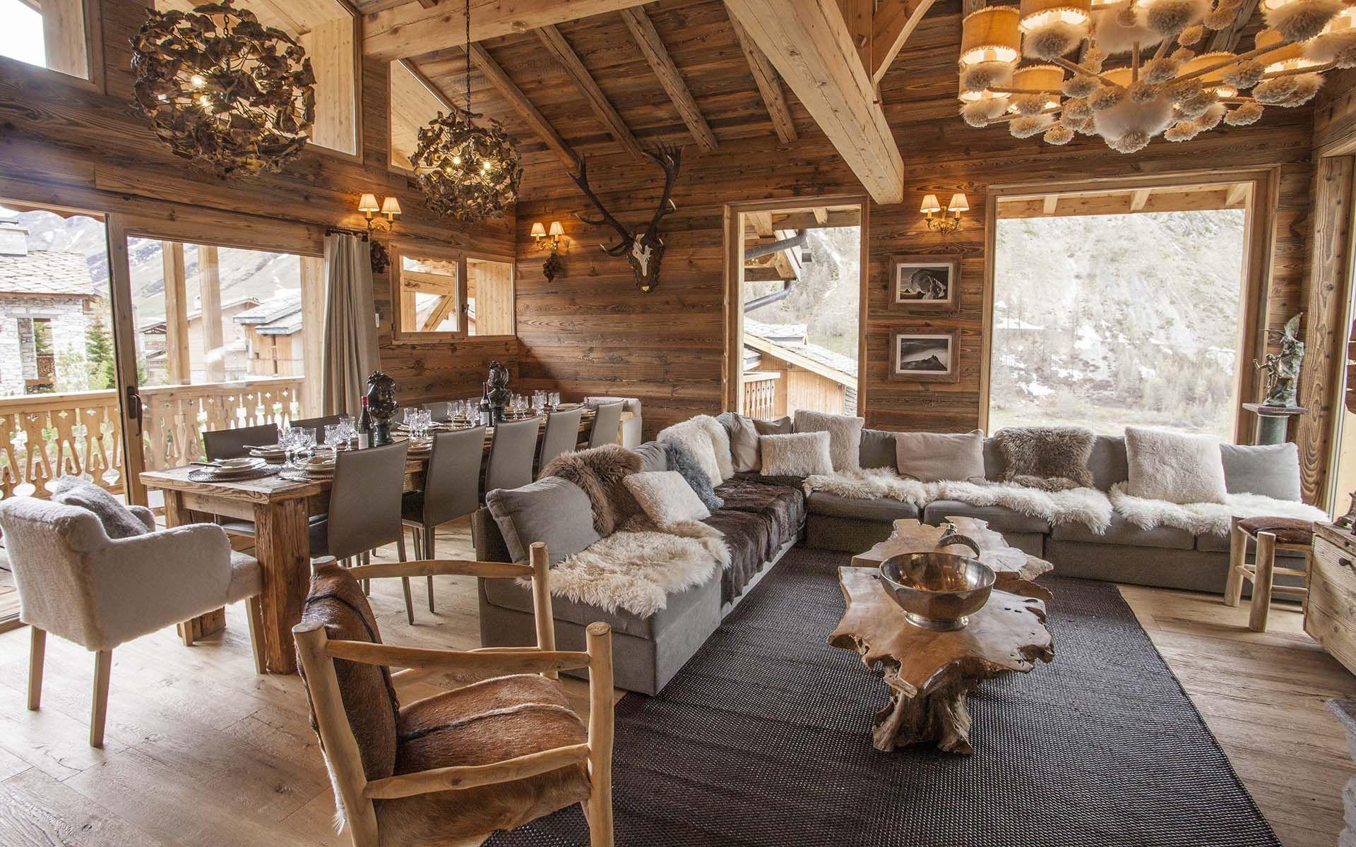 luxury ski chalet  chalet arctic  val d u2019is u00e8re  france  france  photo 8824