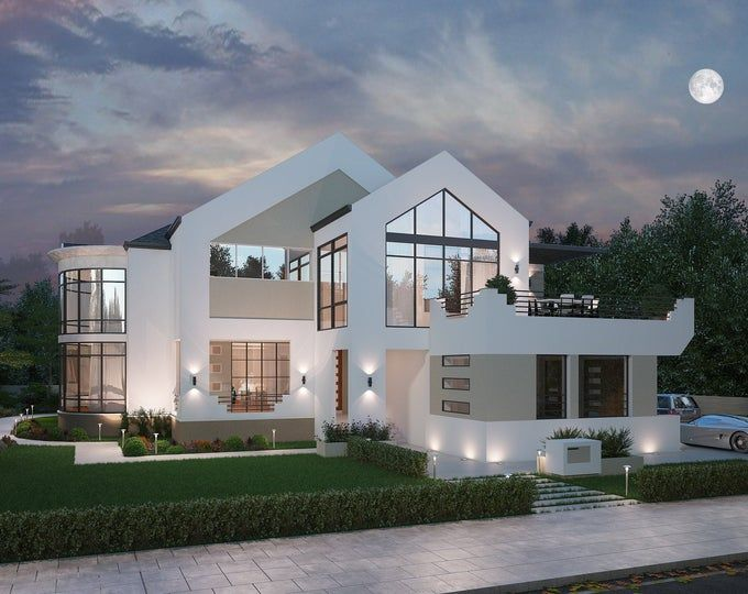 4 Bedroom Luxury House Plan with Three Car Garage Modern Floor Plan 4 Bedroom 4 5 bath Floor Plans